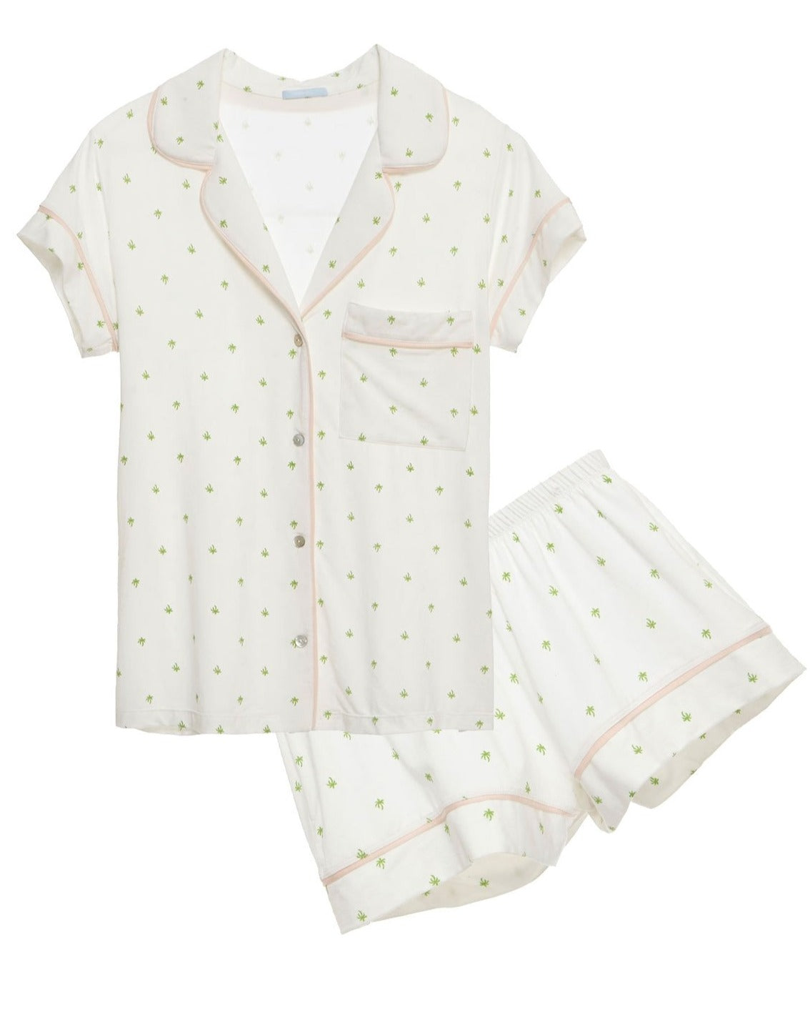 The Giving Palm Short PJ Set