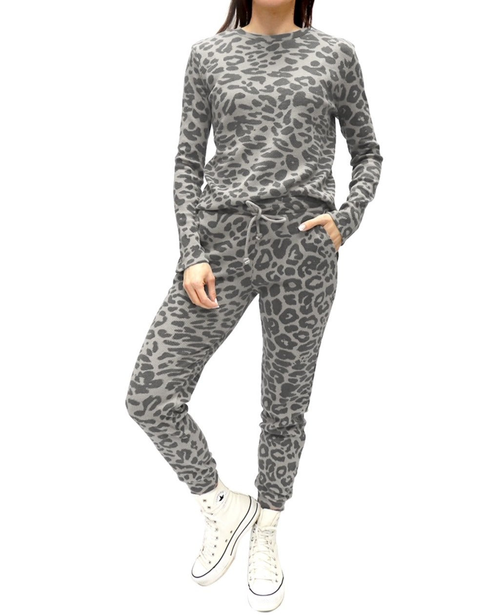 Ava Leopard Lounge Set