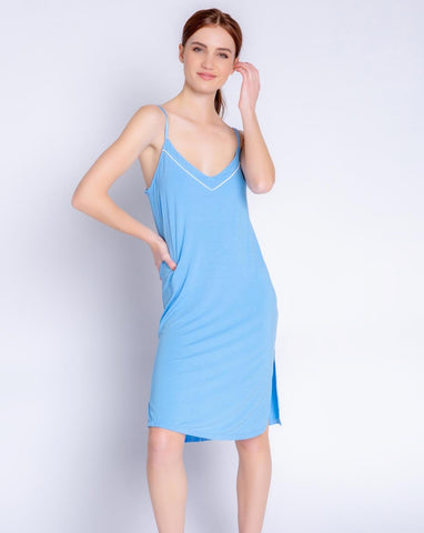 Tropical Modal Blue Dress