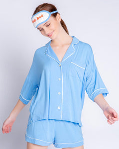Tropical Modal Blue Pajama Set
