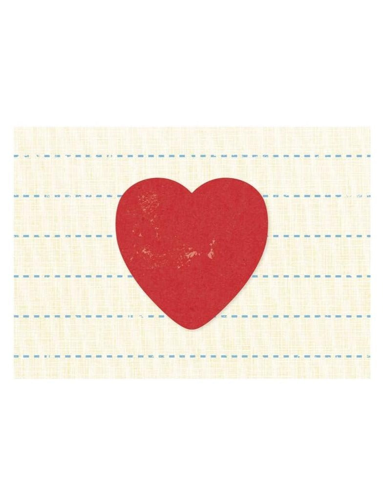 Greeting Card: Big Vintage Heart