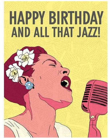 Greeting Card: Billie HB & All That Jazz