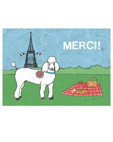 Greeting Card: Merci Poodle