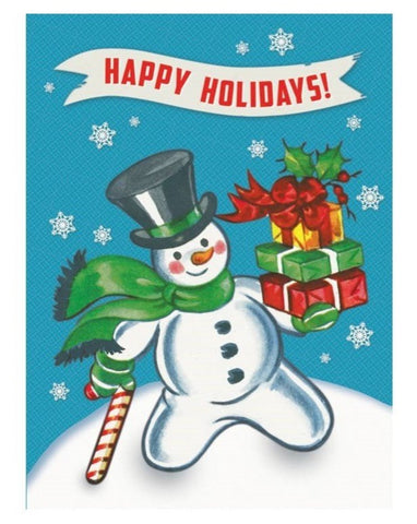 Greeting Card: Snowman Happy Holidays!