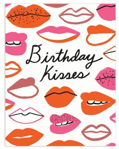 Greeting Card: Lips - Birthday Kisses