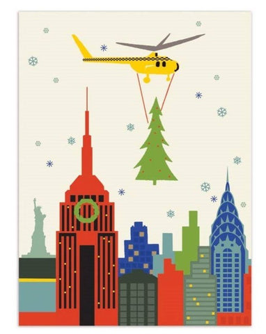 Greeting Card: NYC Tree Drop