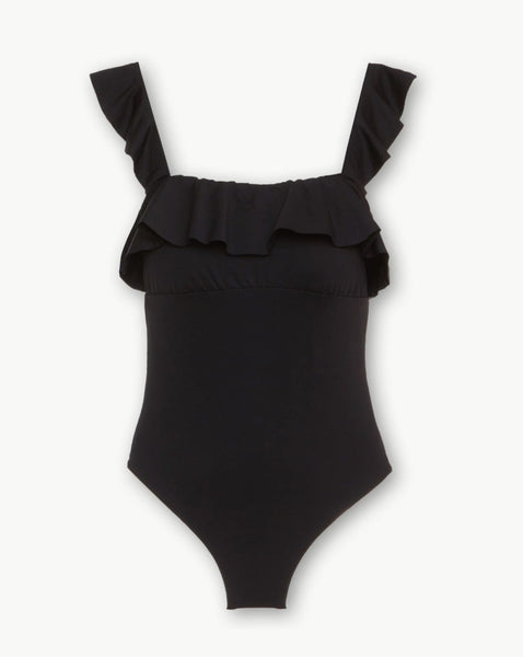 So Solid Jane Black One-Piece Suit