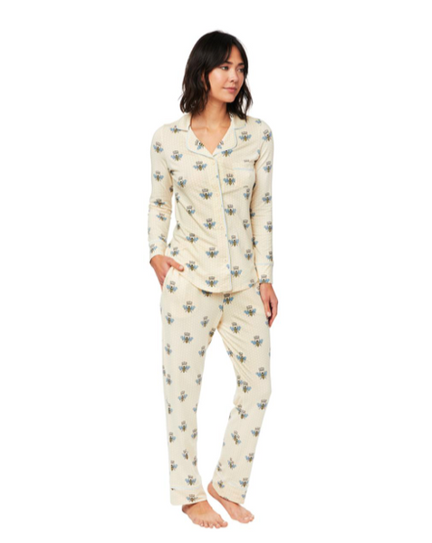 Queen Bee PJ - Yellow Pima Knit