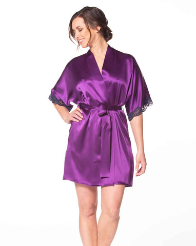 Emperor Purple Boudoir Robe