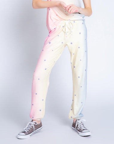 Peachy Party Stars Banded Pant