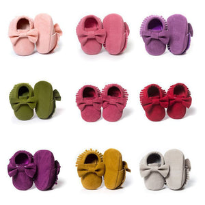 Sweet Fringe Bow Shoes - Mamma & Child