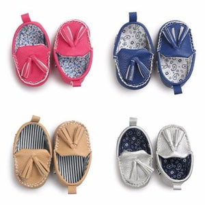 Tassel Pendant Leather Baby Shoes - Mamma & Child