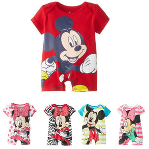 Disney New Baby Boy Clothes Mickey Infant Short Sleeved Cartoon Romper Girl Newborn Jumpsuit Outfit 2019 Brand Bebe Clothing Set - Mamma & Child