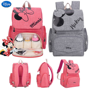 Disney Mickey Minnie Diaper Bag Mummy Maternity Nappy Bag Travel Baby Backpack Large Capacity Stroller Bag Nursing Handbag - Mamma & Child