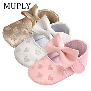 Infant Moccasins Bow Fringe Shoes - Mamma & Child
