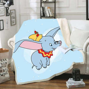 Disney Dumbo Flying Winnie Pet Tigger Baby Plush Blanket Throw Sofa Bed Cover Twin Bedding for Kids Boys Girls Children Gifts - Mamma & Child