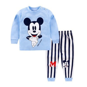 Disney Mickey New Baby Boy Clothes 2020 Fall Casual Long Sleeved T-shirt Tops + Pants 2pcs Outfit Children Infant Clothing Sets - Mamma & Child