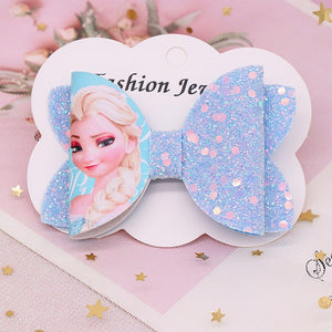 Disney Princess Hairpin Bow Headdress Children Girls Hairpin Frozen Elsa And Memerid Hair Clip Hair Accessories Birthday Gift - Mamma & Child