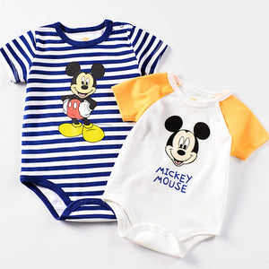 Mickey Baby Boy Rompers Disney Bebes Kids Clothes Newborn Infant Jumpsuit  Baby Girl Romper O-Neck Cartoon Baby Clothes - Mamma & Child