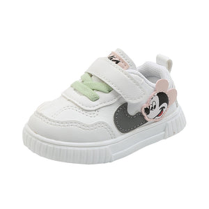 Disney new autumn baby toddler shoes boys spring girls casual shoes cartoon Mickey mouse children's white shoes - Mamma & Child