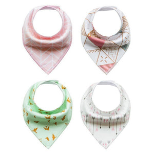 Multi-Function Bandanna Baby Bibs (Set of 4) - Mamma & Child