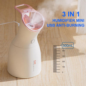3-in-1 Purple Light Disinfection Lamp & Humidifier