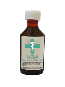HGD-V Kitchen Surface (Hospital Grade Disinfectant / Virucide Solution) - Concentrate, makes 8-16 Spray Bottles