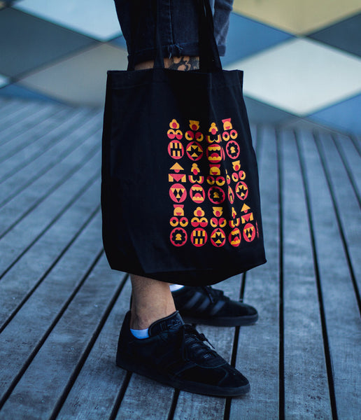 Dark Kokeshi Eco Tote Bag - bkzcreative