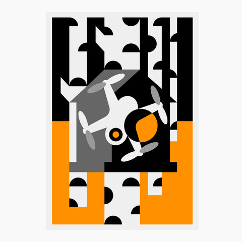 Drone in the Birdhouse Giclée Poster | Stencil Collection - BKZCREATIVE | Creative apparel by Bogdan Katsuba