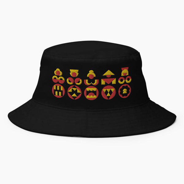 Dark Kokeshi Bucket Hat - bkzcreative
