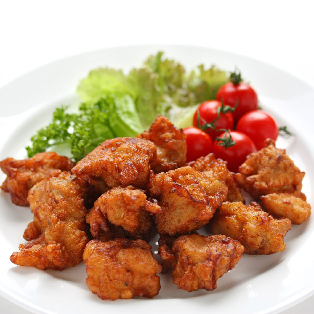 Cooked Fried Chicken Golden Crispy Karaage
