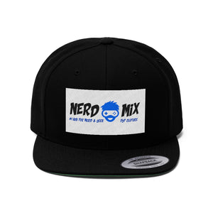 """NERD  MIX"" Flat Bill Hat"