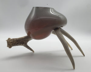 Hunters Paradise Series (Golden Iris Bowl on Antler)