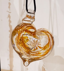 Memorial Glass Small Heart Shaped Pendant (eleven color options)