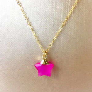 Candy Pink Star Pendant