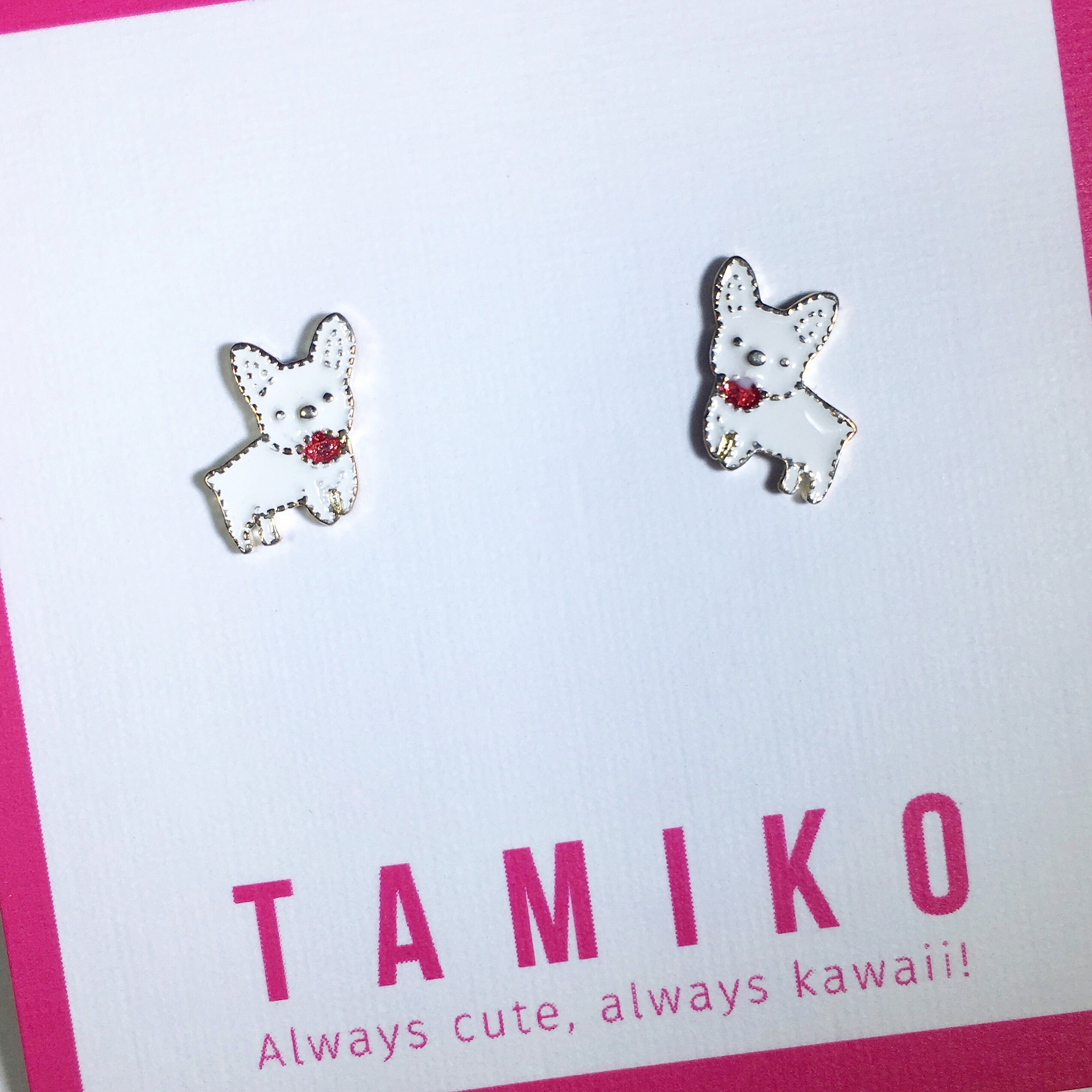 Kawaii French Bulldog Studs