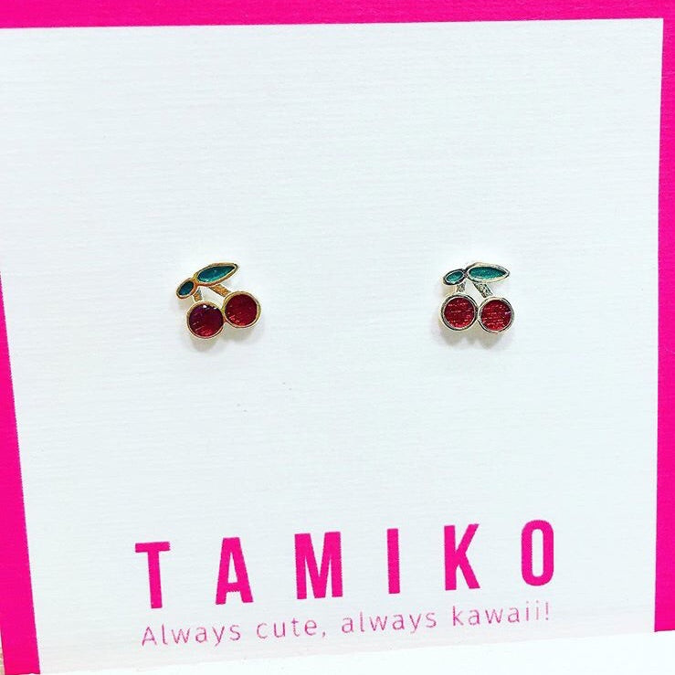 Sterling Silver Cherry Studs 🍒