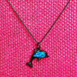 Opal Dolphin Necklace