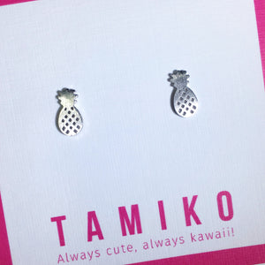 Kawaii Pineapple Studs