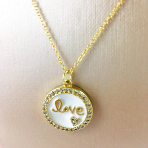 """LOVE"" Coin Pendant"