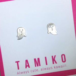 Kawaii Ghost Studs