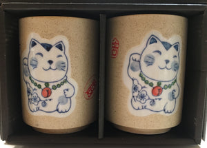 Lucky Cat Tea Cup Set