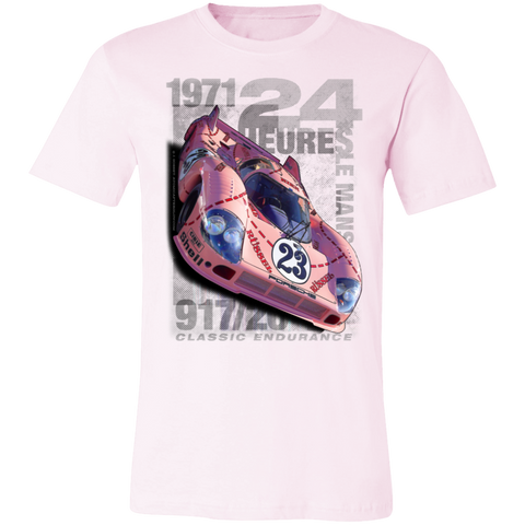 1971 Pink Pig Porsche 917/20 • 24 Heures Le Mans 3001C Unisex Jersey Short-Sleeve T-Shirt • Exclusively from MTC & Atomic Afterglow™