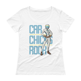 Car Chicks Rock Ladies' Scoopneck T-Shirt