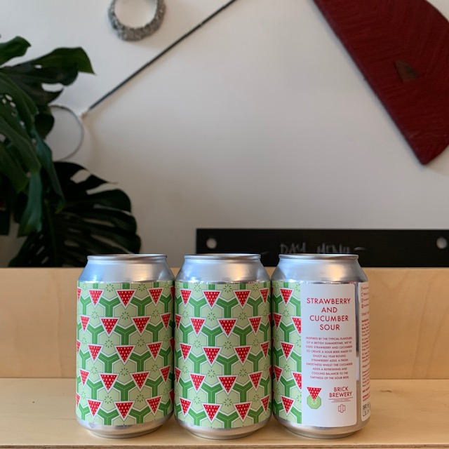 Brick Brewery, Strawberry and Cucumber Sour, 3.8%