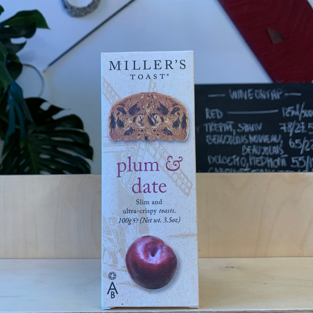 Miller's Plum and Date Toasts 100g