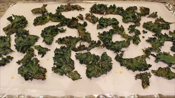 Brown Burnt Kale Chips