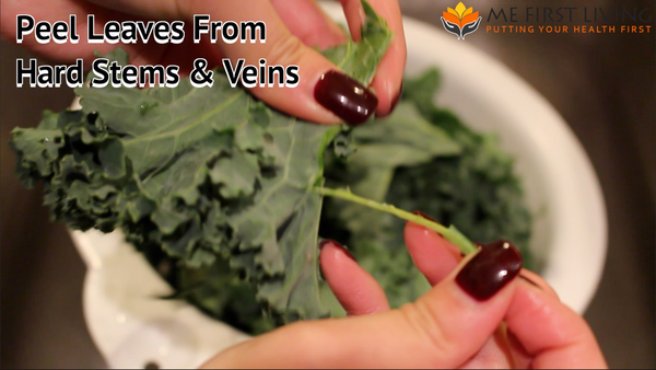 Remove Stem & Veins Kale Chips