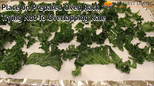 Place Kale Chips on Rack in Single Layer