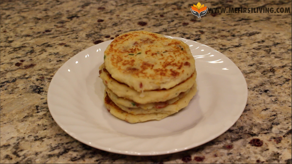 Plate Mashed Potato Pancakes Recipe